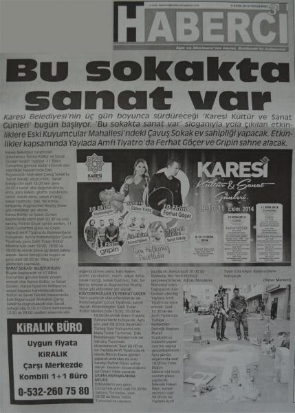 09.10.2014 Basında çıkan haberlerimiz