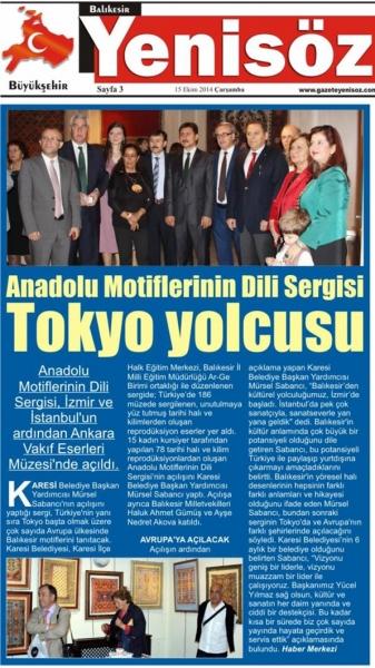 15.10.2014 Basında çıkan haberlerimiz...