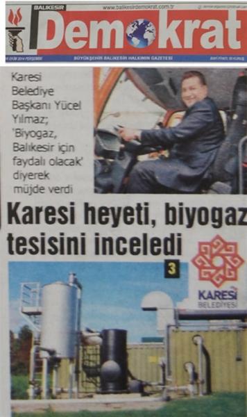 16.10.2014 Basında çıkan haberlerimiz......