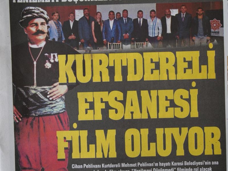 Kurtdereli Mehmet Pehlivan ile ilgili ULUSAL ve YEREL Basında çıkan haberlerimiz