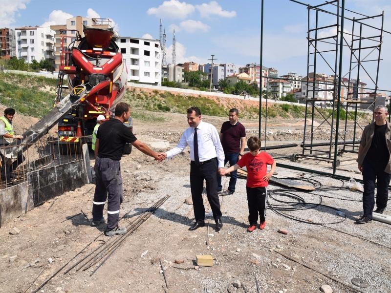 Başkan Yücel Yılmaz'dan, projelere yakın takip