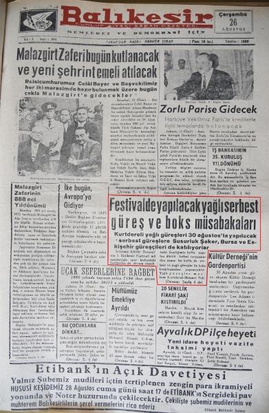 Kurtdereli için ilk peşrev 59 yıl önce çekildi
