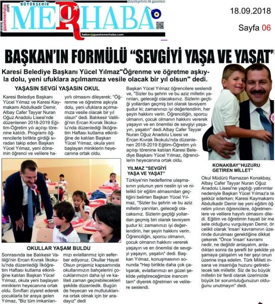 18.09.2018 BASINDA ÇIKAN HABERLERİMİZ