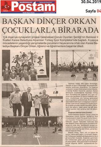 30.04.2019 BASINDA ÇIKAN HABERLERİMİZ