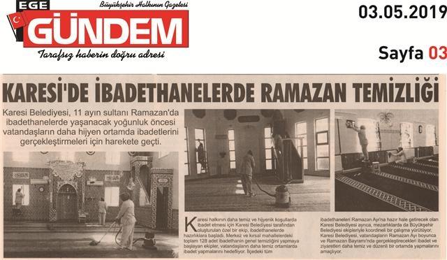 03.05.2019 BASINDA ÇIKAN HABERLERİMİZ