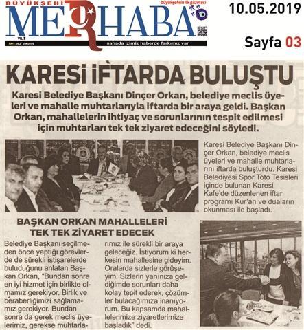 10.05.2019 BASINDA ÇIKAN HABERLERİMİZ
