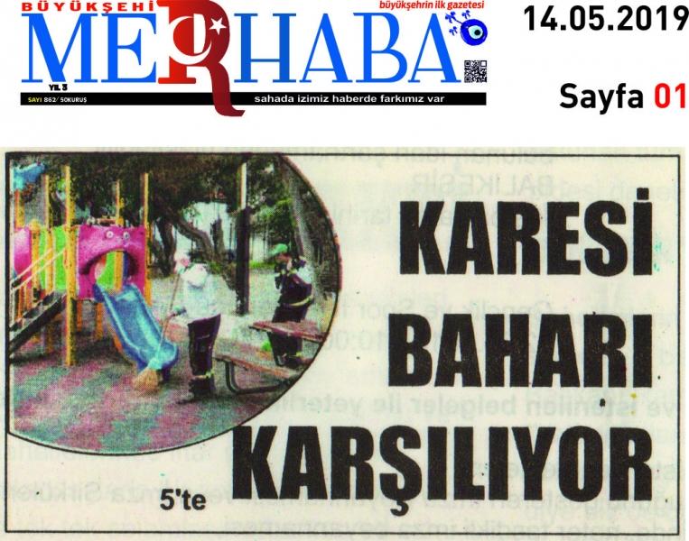 14.05.2019 BASINDA ÇIKAN HABERLERİMİZ  ...