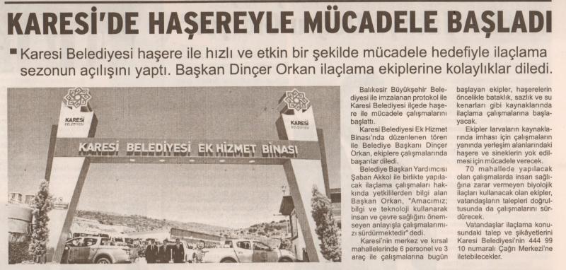 11.06.2019 BASINDA ÇIKAN HABERLERİMİZ...