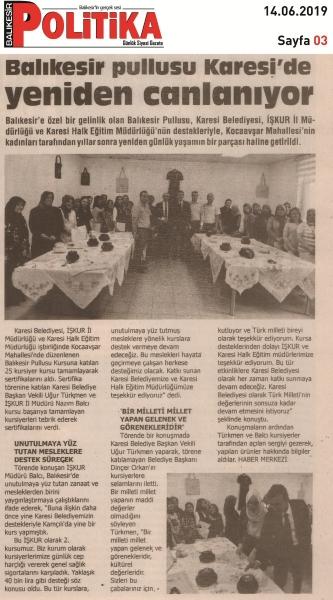 14.06.2019 BASINDA ÇIKAN HABERLERİMİZ...