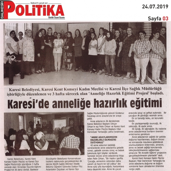 24.07.2019 BASINDA ÇIKAN HABERLERİMİZ