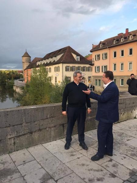 Başkan Orkan kardeş şehir Schwabisch Hall'de inceleme ve temaslarda bulundu
