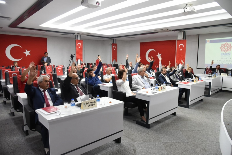 Karesi Belediye Meclisi'nden Barış Pınarı Harekatı'na destek