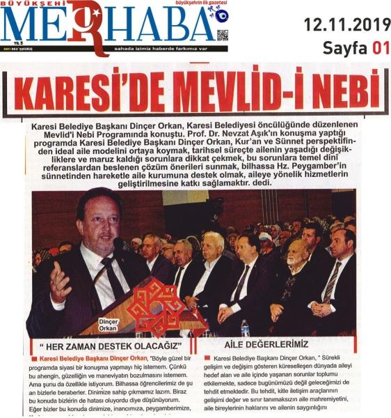 12.11.2019 BASINDA ÇIKAN HABERLERİMİZ