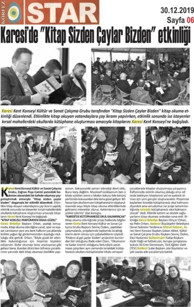 30.12.2019 BASINDA ÇIKAN HABERLERİMİZ