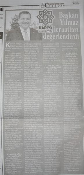 01.09.2014 Basında çıkan haberler