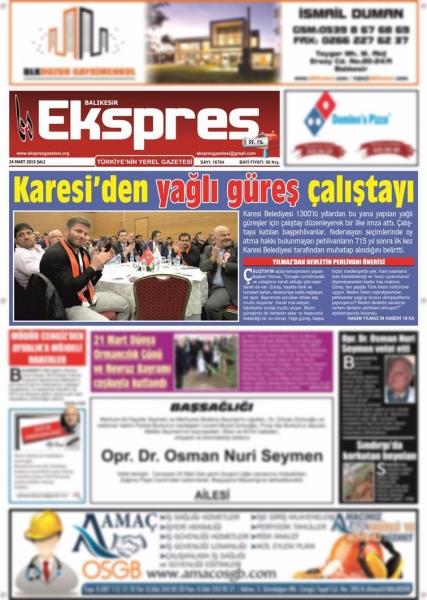24.03.2015 Basında Çıkan Haberlerimiz