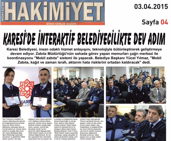 03.04.2015 Basında Çıkan Haberlerimiz
