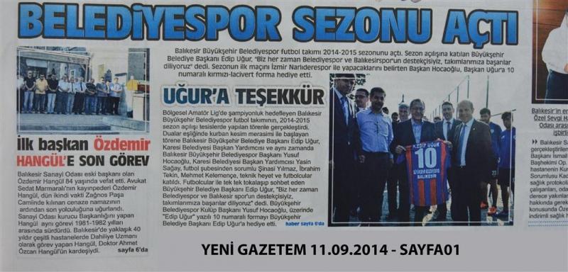 11.09.2014 Basında çıkan haberlerimiz