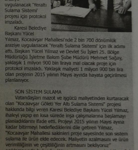 26.09.2014 Basında çıkan haberlerimiz