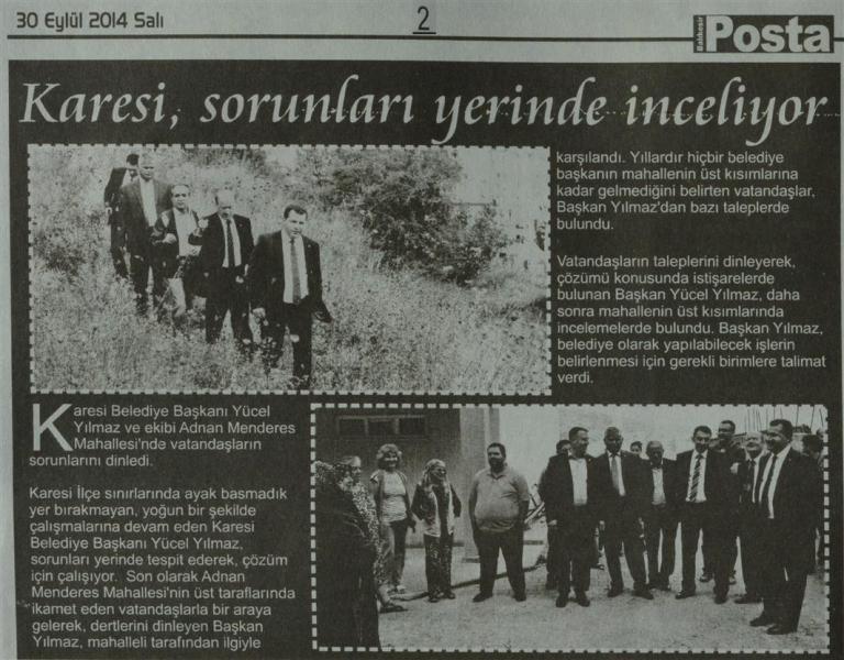 30.09.2014 Basında çıkan haberlerimiz