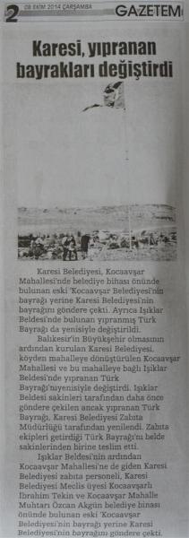 08.10.2014 Basında çıkan haberlerimiz
