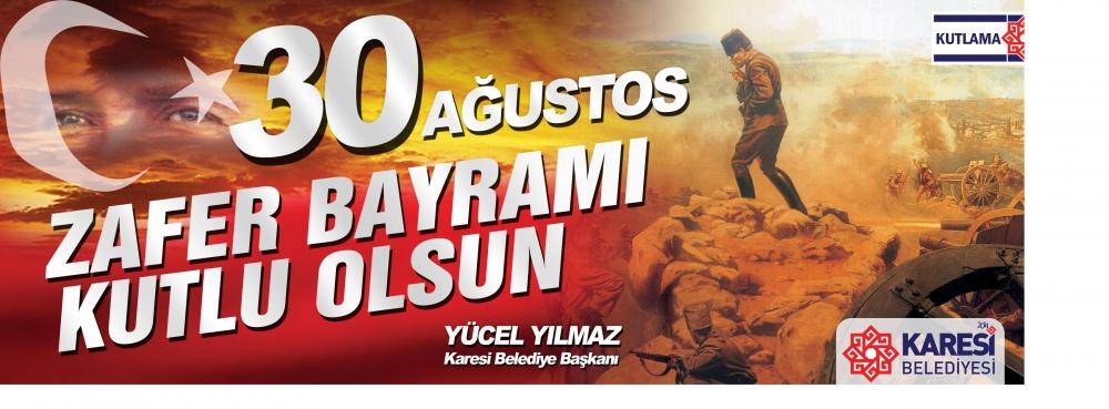 """Başkan Yücel Yılmaz, """"30 Ağustos Zafer Bayramı"""" münasebetiyle bir mesaj yayımladı"""