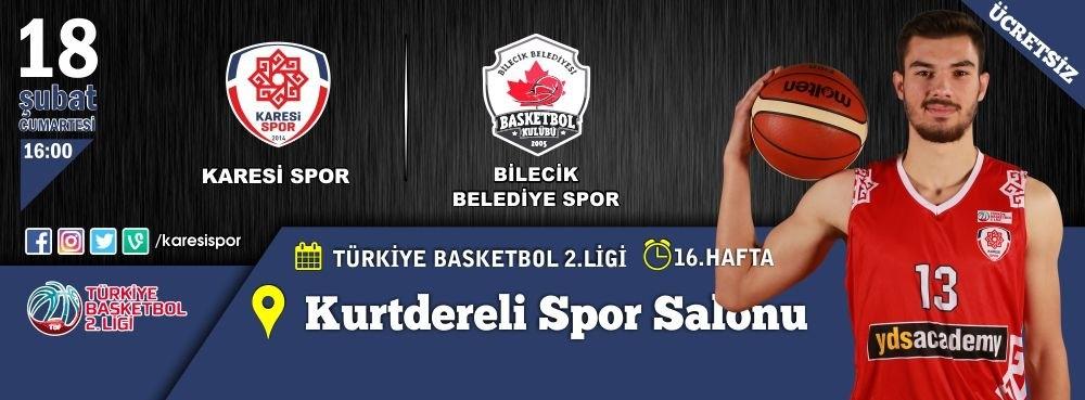Karesispor'un konuğu Bilecik Belediyespor