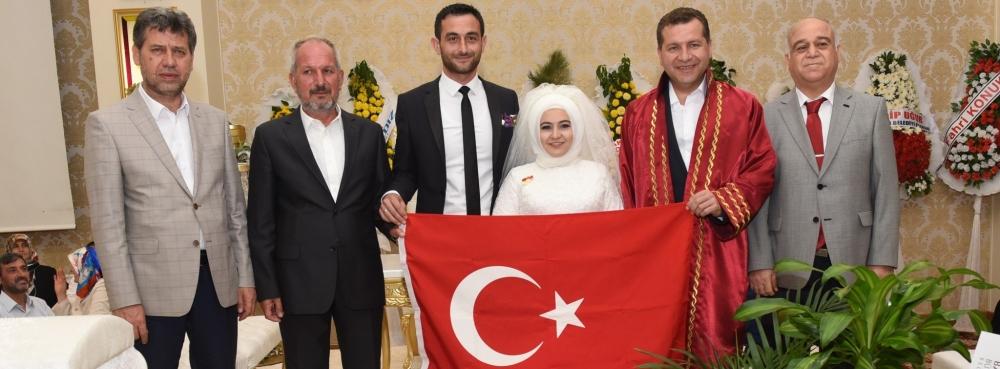 Kasım Bostan'ın danışmanı Nurullah Şahin'in mutlu günü