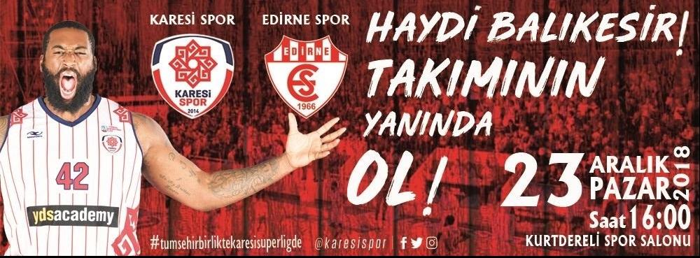 Lider pazar günü Edirne'yi konuk ediyor