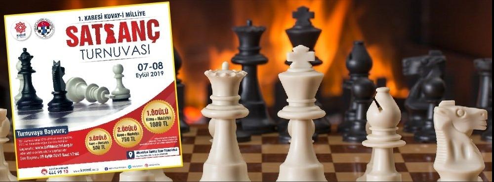1. Karesi Kuva-yi Milliye Satranç Turnuvası Başlıyor