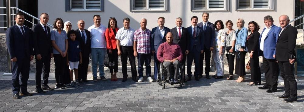 Başkan Orkan ve Kent Konseyi'nden Kaymakam Demir'e ziyaret