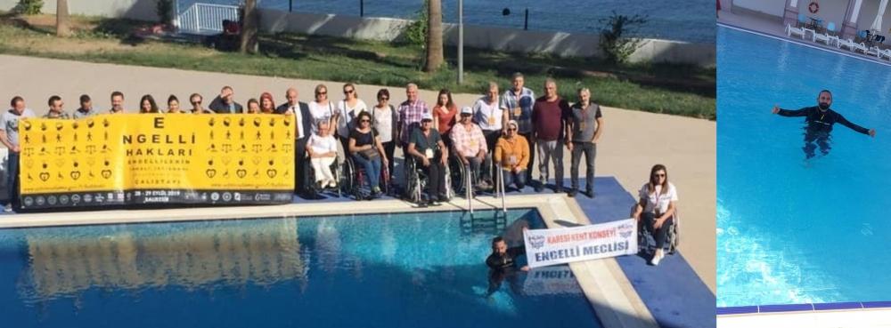 Karesi Engelli Meclisi'nin Dünya rekortmeninden farkındalık dalışı